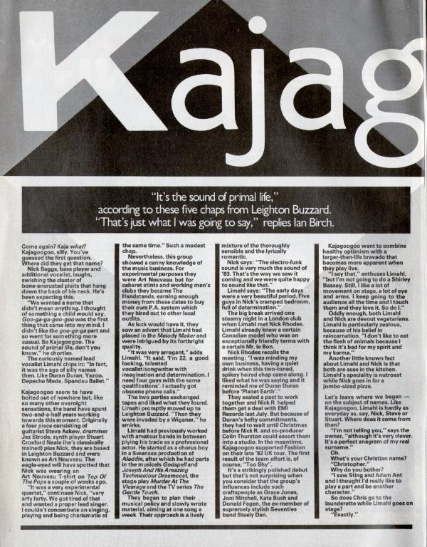 02 Smash Hits Feb 83 Interview