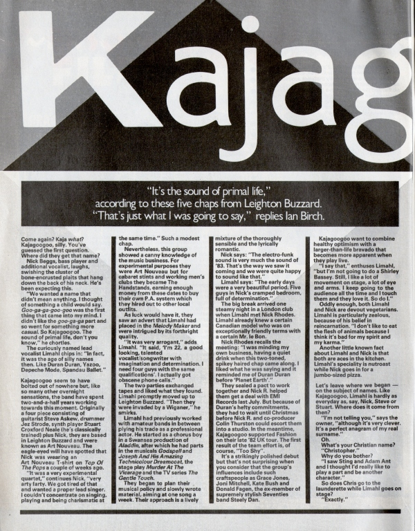 02 Smash Hits Feb 83 Interview