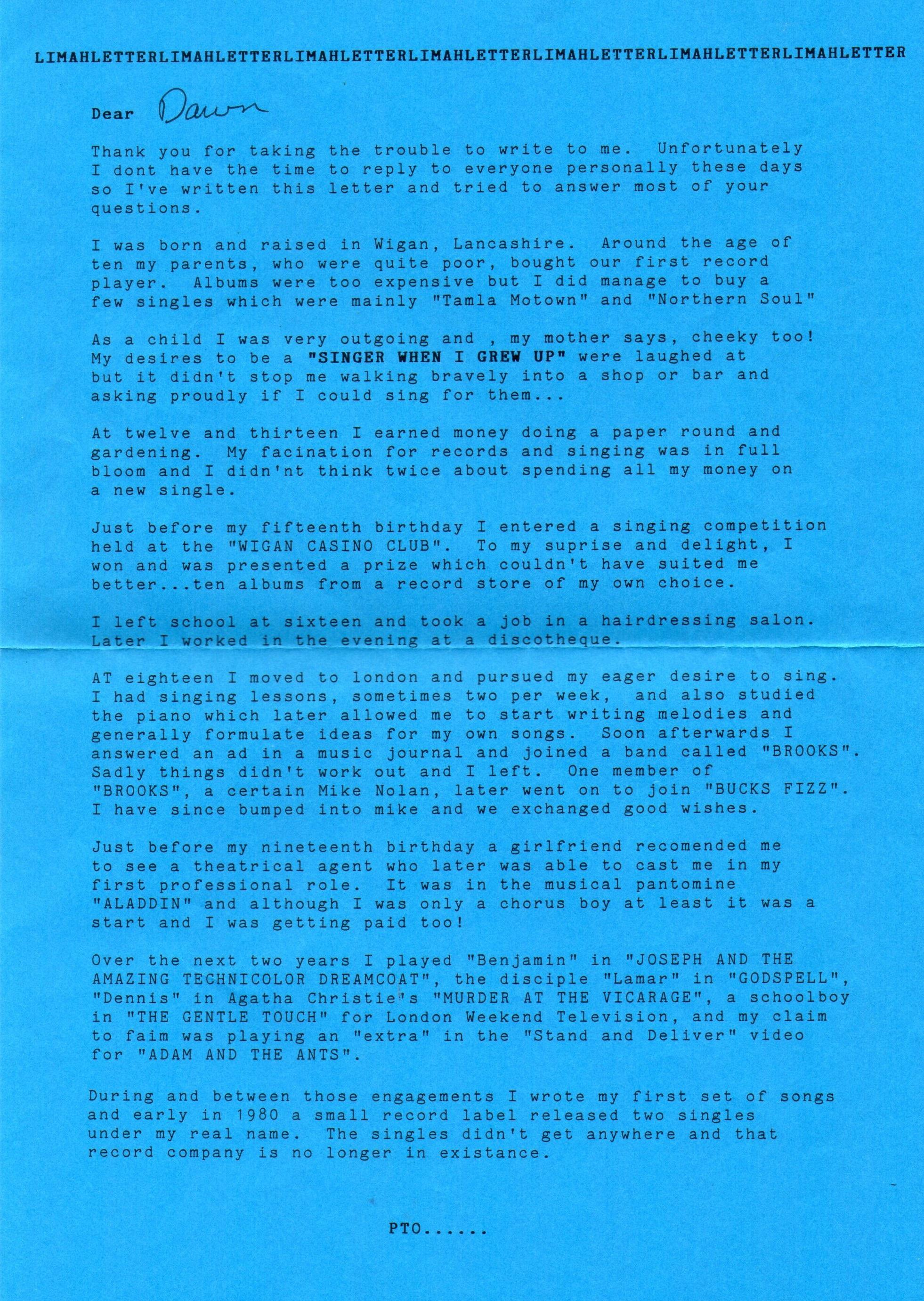 03 limahl letter front