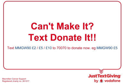 Text It Donation Macmillan Evening