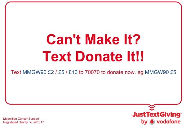 Text It Donation Macmillan Evening