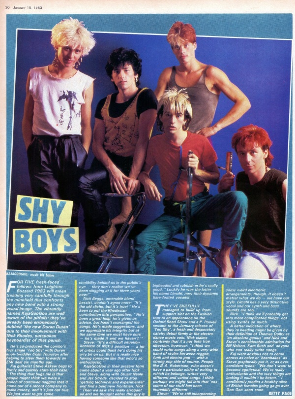 02 Kajagoogoo January 1983