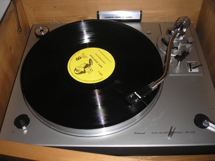 the disc on my turntable