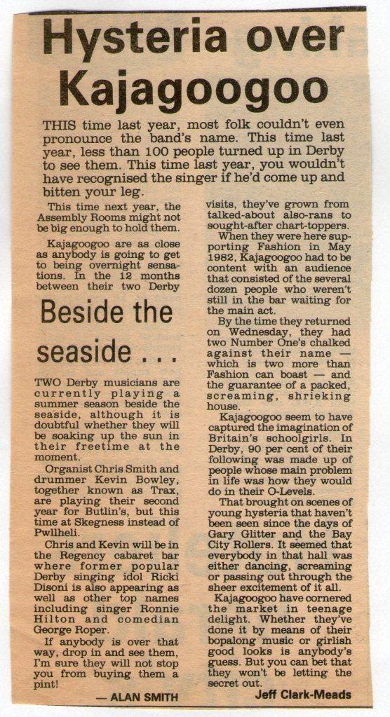 Kajagoogoo Review 1983