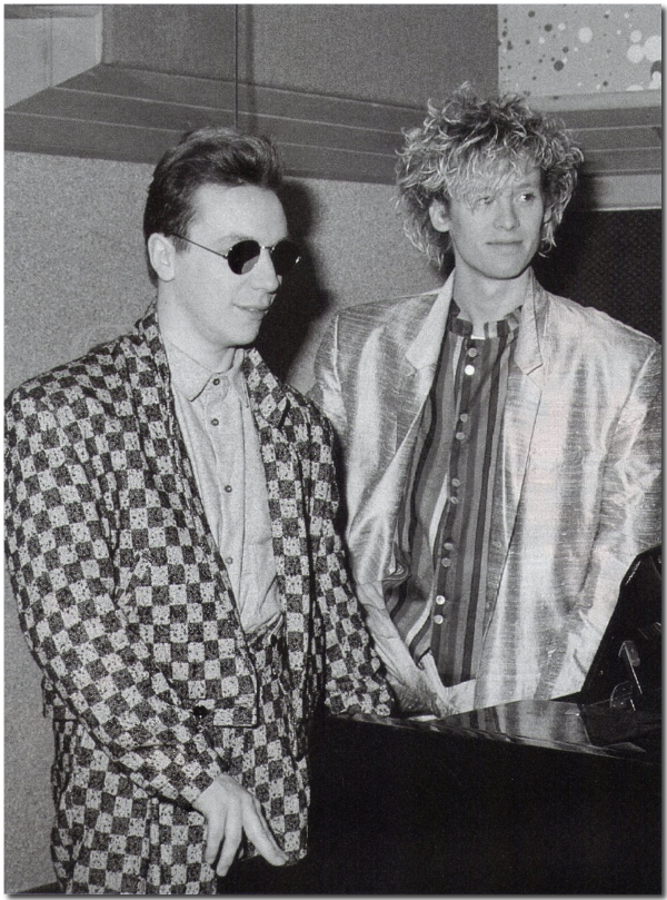 Steve and Nick in 1985