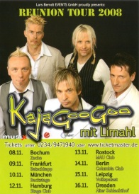 2008 German Tour Poster