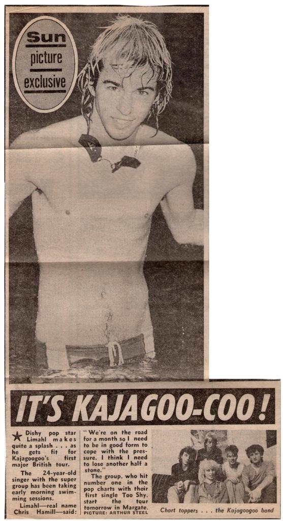 KajaFax newspaper cutting 1983