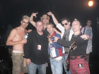 Kajagoogoo backstage with Glenn Kelly