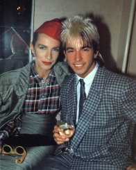 Limahl and Annie Lennox, 1984