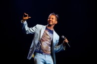 Limahl on stage in Oslo