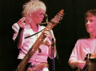 Nick and Steve on stage in Japan, 1984