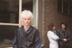 Nick, outside Gimpy Dak records,1984