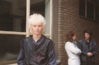 Nick, outside Gimpy Dak records, 1984