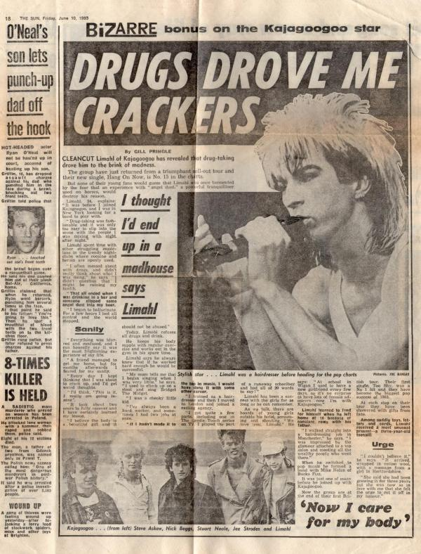 Limahl in the Sun 1983