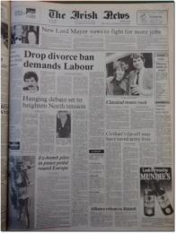 """Kajagoogoo made the fromt page of the Irish News"""