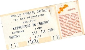 Kajagoogoo84 ticket